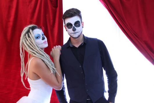 maquiagem de noiva e noivo cadáver