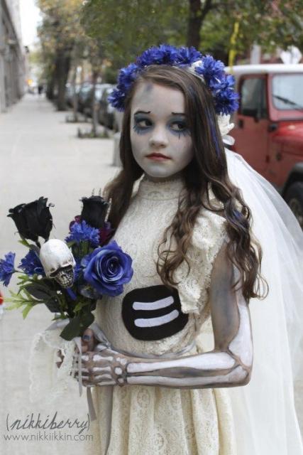 fantasia noiva cadáver para criança