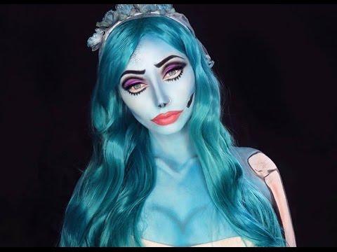 maquiagem de noiva cadáver no rosto e corpo