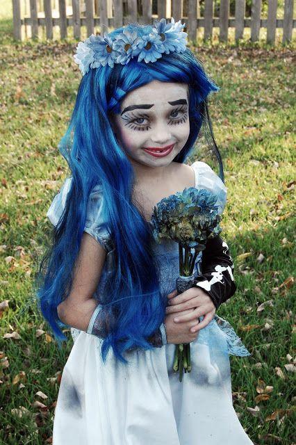 fantasia noiva cadáver peruca azul