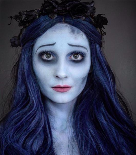 maquiagem de noiva cadáver olhos sombrios