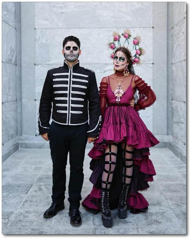 Fantasia de Caveira Mexicana para Casal