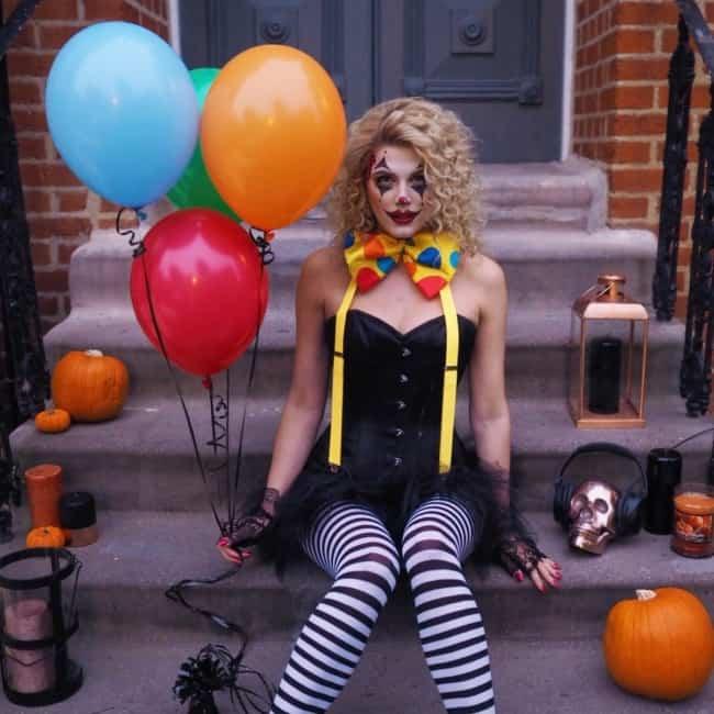 Fantasia de Palhaça Feminina para Halloween