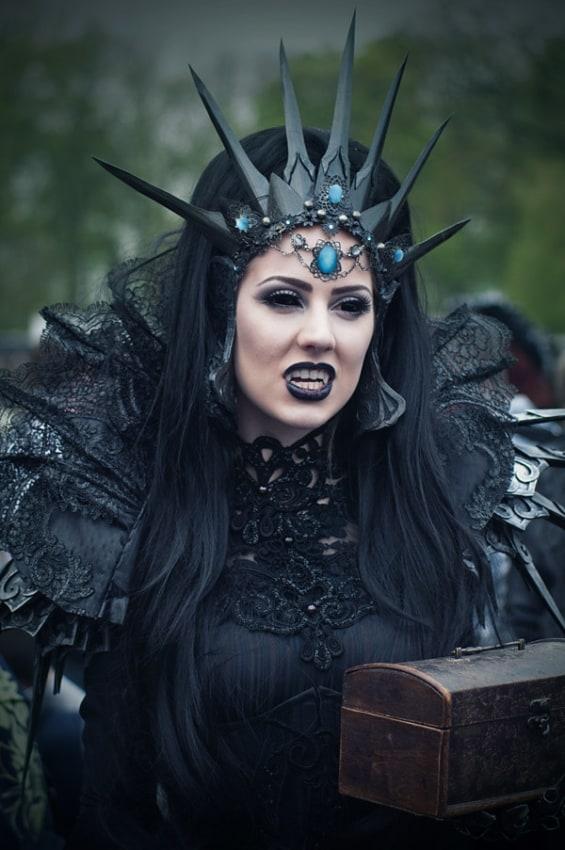 Fantasia de Vampira para Halloween