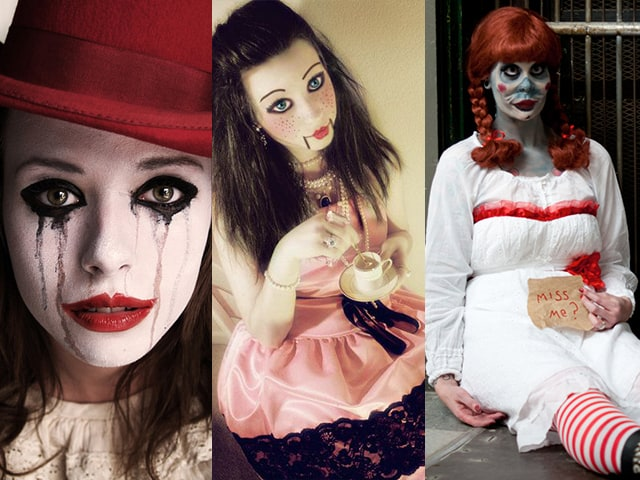 Fantasia de boneca de terror para Halloween