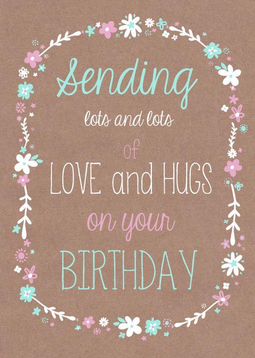 Mensagem de aniversário com letras e desenhos coloridos.
