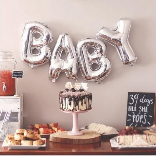 festa simples chá de bebê