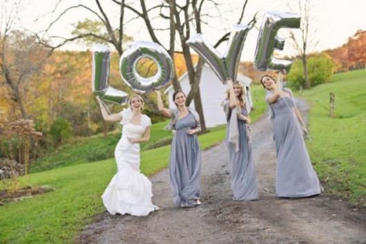 foto de casamento com madrinhas