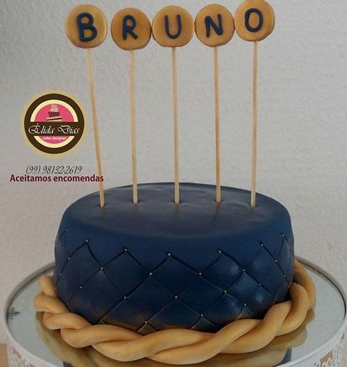 bolo masculino azul marinho