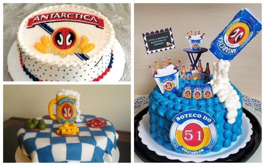 modelos de bolo da antarctica