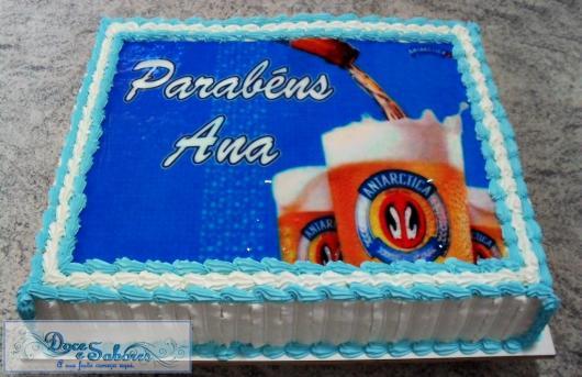 Bolo de aniversário quadrado da Antarctica