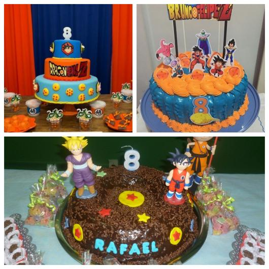 Festa dragon ball 80 ideias lindas de decora o bolos for Cuartos decorados de dragon ball z