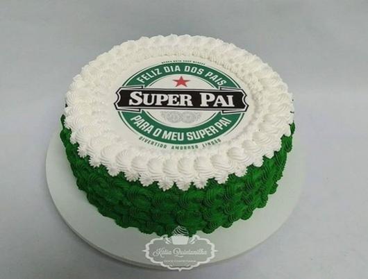 bolo verde e branco