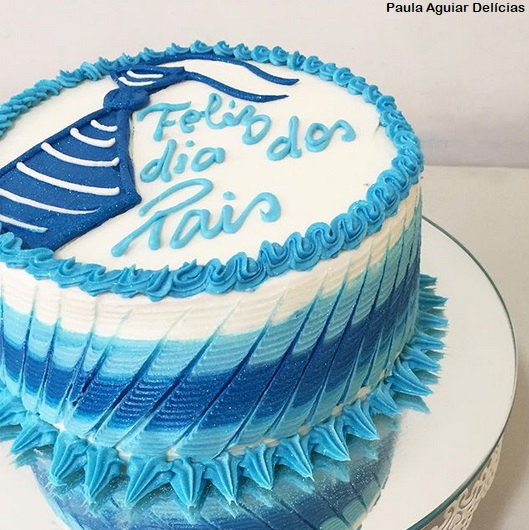 bolo glacê azul