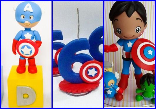 Bolo do Capitão América modelos de topo de bolo