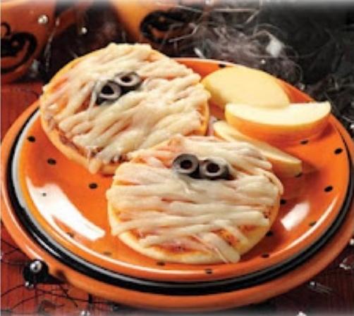 Comidas de Halloween: mini pizza