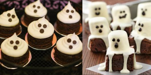 Comidas de Halloween: mini bolo de fantasma