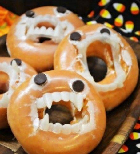 Comidas de Halloween: rosquinhas vampiras
