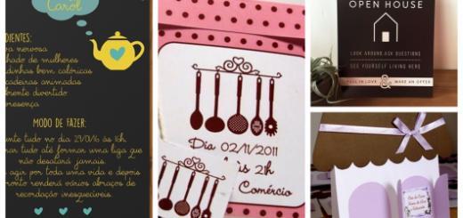 modelos de convite chá de casa nova
