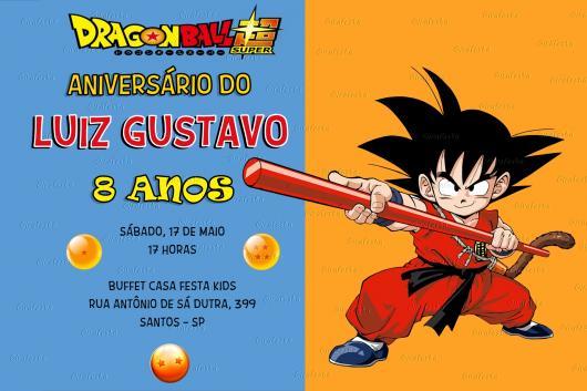 Lindos Dragones Para Imprimir: Convite Dragon Ball Z Para Imprimir