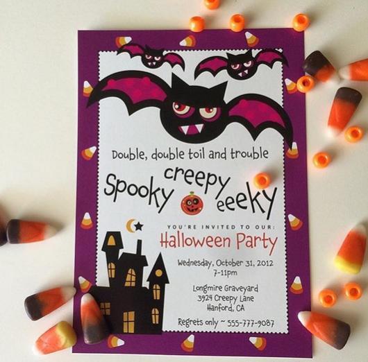 convite infantil morcego