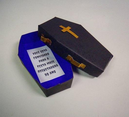 convite caixão