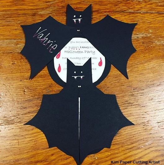 convite criativo morcego