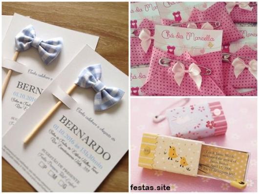 ideias para chá de bebê