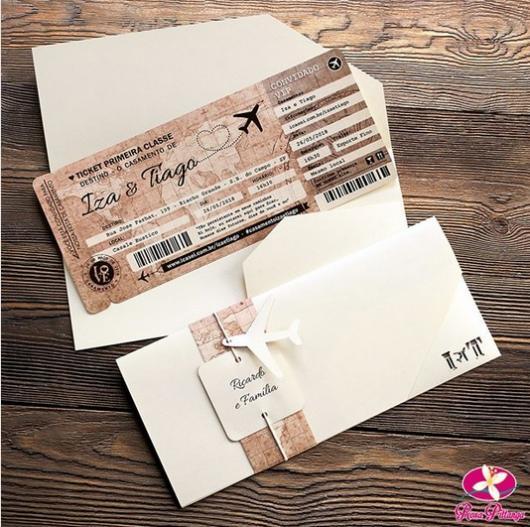 convite bilhete aéreo