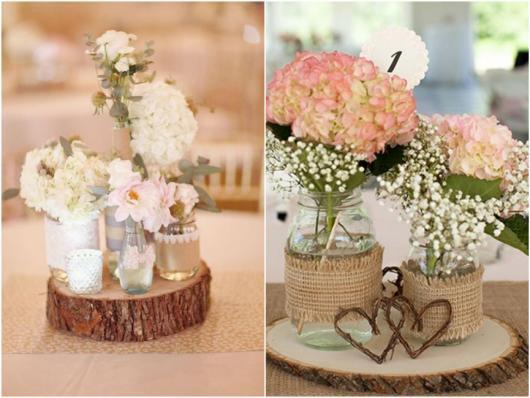 Enfeite de Mesa com flores para casamento