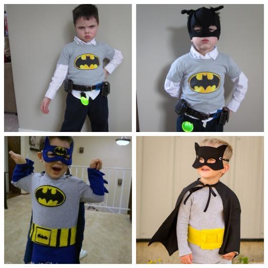 40 modelos incríveis de fantasia do Batman infantil para meninos e meninas