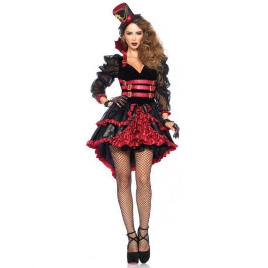 Fantasia de Vampira meia arrastão e vestido
