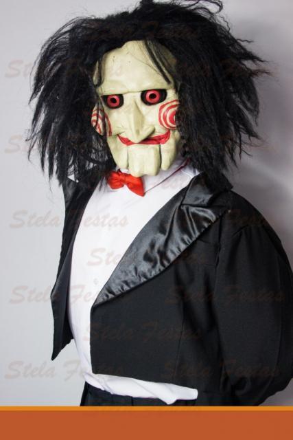 Fantasia Feminina do filme Jogos Mortais com máscara