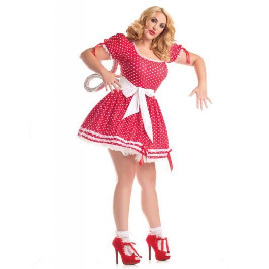 Fantasia de Boneca de corda possuída com vestido rosa