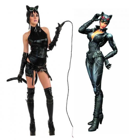 Fantasia de Halloween feminina de Mulher Gato
