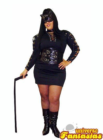 Fantasia de Halloween feminina de Mulher Gato plus size