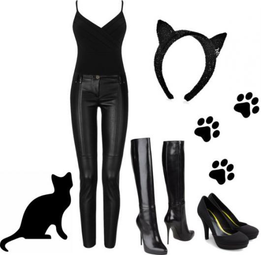 Fantasia de Halloween feminina de Mulher Gato com ideias para improvisar