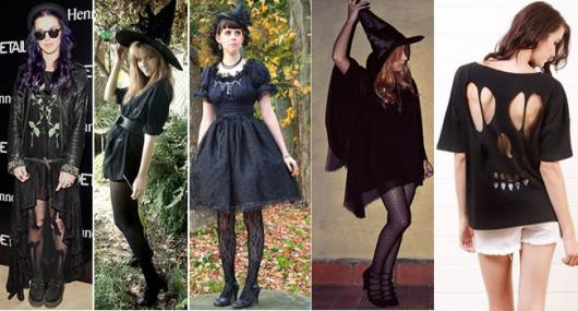 Fantasia de Halloween feminina Simples de bruxa