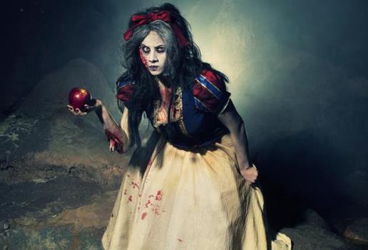 Fantasia de Halloween feminina criativa Branca de Neve