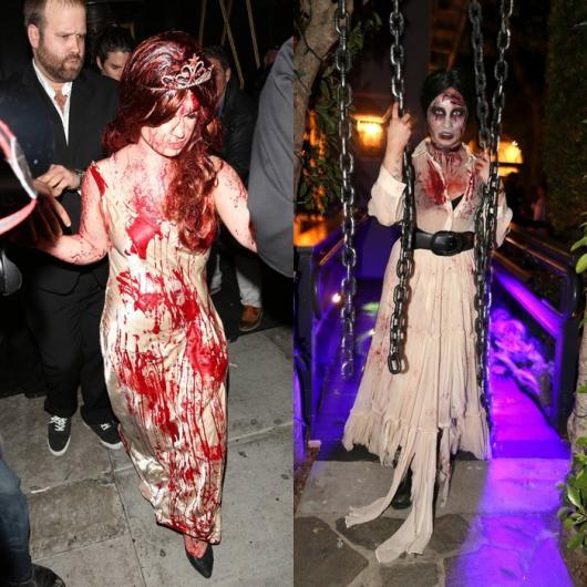 Fantasia de Halloween feminina assustadora noiva cadáver