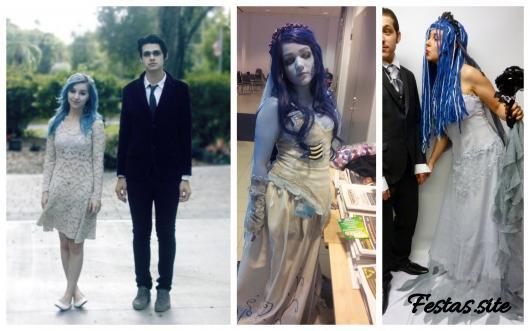 fantasias de noiva e noivo cadáver