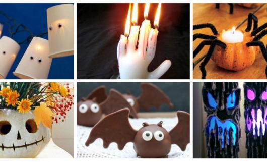 Festa de Halloween decoração com velas personalizadas