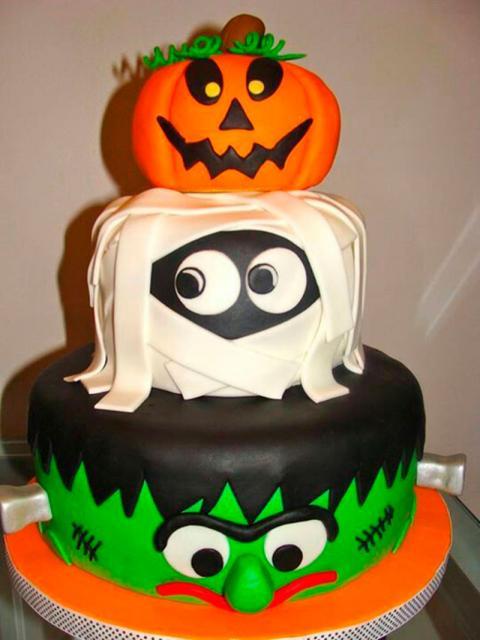 Festa de Halloween bolo com Frankenstein