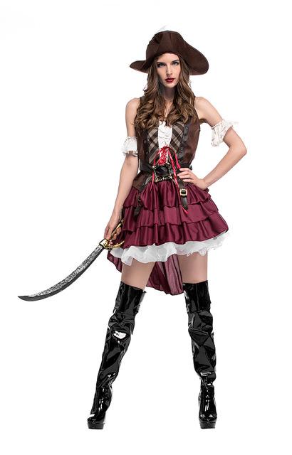 Festa de Halloween fantasia feminina pirata