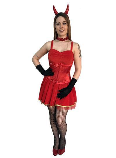 Festa de Halloween fantasia feminina diabinha
