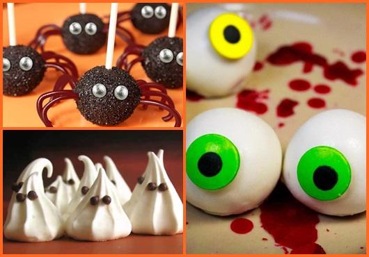 Festa de Halloween comidas para servir