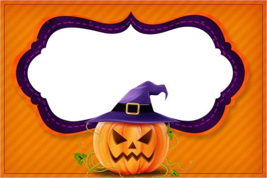 Festa de Halloween convite personalizado com abóbora