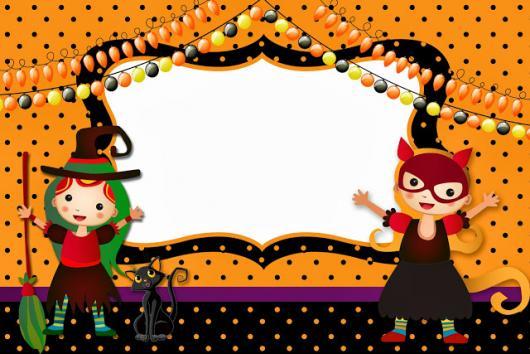 Festa de Halloween convite cartão para festa infantil