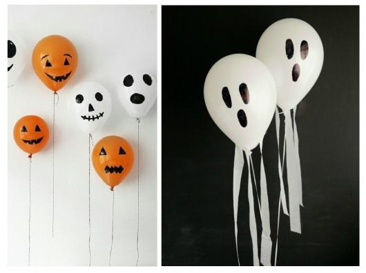 Festa de Halloween decoração com balões personalizados