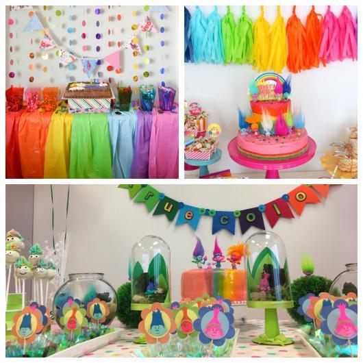 Aprenda a criar uma festa multicolorida do Trolls